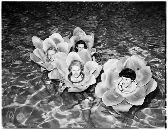 Los Angeles High [School] Aquacade dancers, 1952