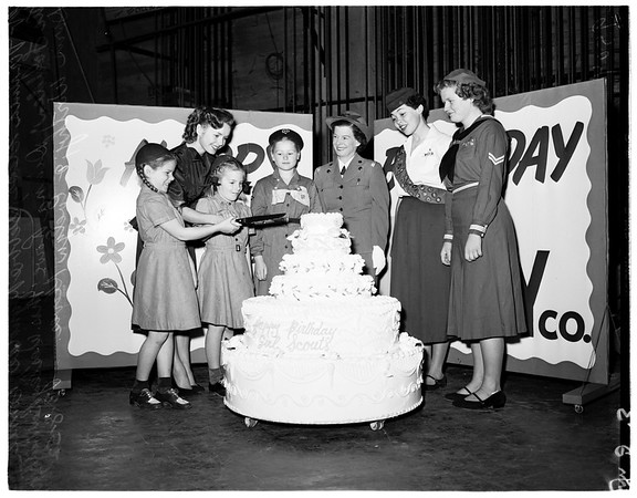 Girl Scouts' birthday, 1952