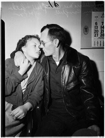 Campbell father visits daughter, 1952