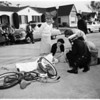 Traffic accident...Cheviot Hills...10533 Butterfield Road, 1952