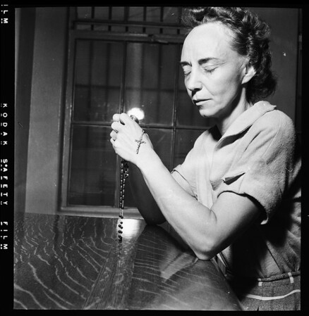 Mrs. Patricia Moore in City Jail, 1952.