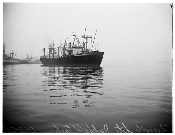 Ship collision, 1952.