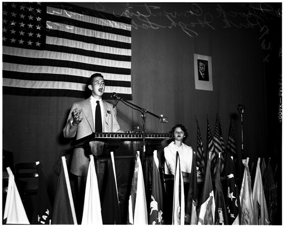 Mock convention (Huntington Park High School), 1952