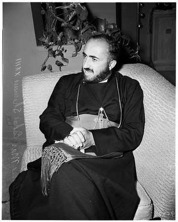 Church's head ... Assyrian Church leader here, 1952.