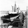 "French Line's Freighter ""Winnipeg"" (ship repair) $450,000 job, 1952"