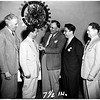 Rotary Club of Covina with foreign students, 1952