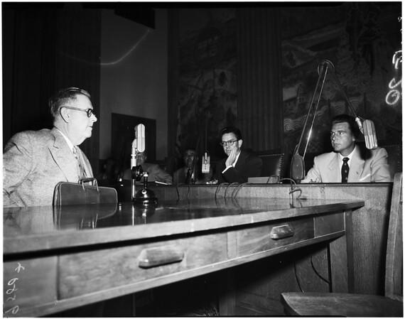 Public health sub-interim committee, 1952