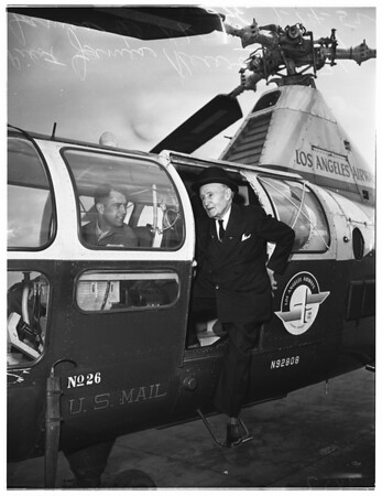 Helicopter flight, 1952