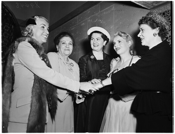 Installation of president ...Junior auxiliary of Jewish Home for the Aged ...Biltmore Bowl, 1951