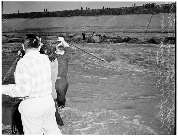 Rescues from Los Angeles River, 1952
