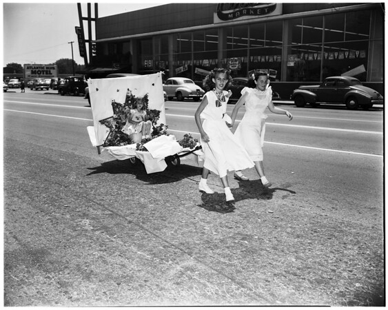 Junior Flower Growers Club floats, North Long Beach,1952.