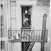 Dead woman at 411 East 4th Street, 1952