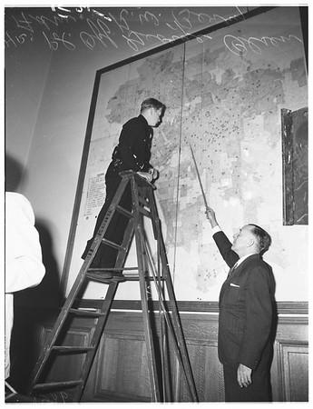Civil Defense control room, 1952