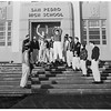 San Pedro schools close because of storm, 1952