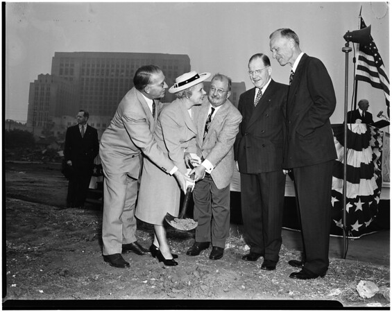 Juvenile hall ground breaking for $3,500,000 addition, 1952