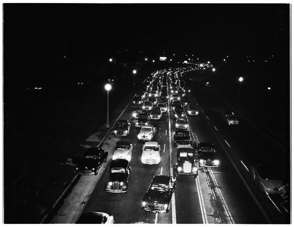 Arroyo Seco traffic jam, 1952.