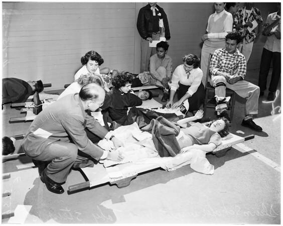 Disaster drill (Roosevelt High School), 1952