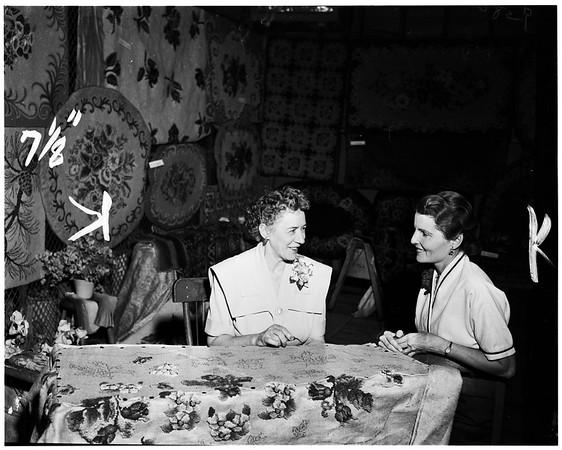 Covina High School Adult Education exhibit, 1952