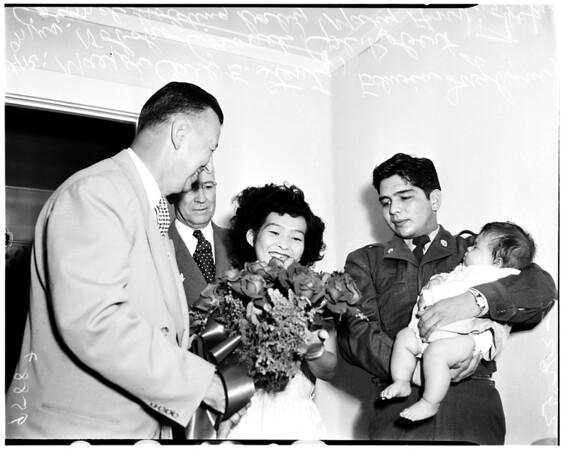 Corporal Robert Coronel homecoming, 1952