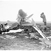 Plane crash ...Victoria Street, on Shell Oil Company Property, 1952