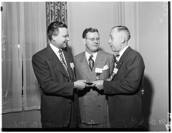 New president of Southern California State Dental Association, 1952