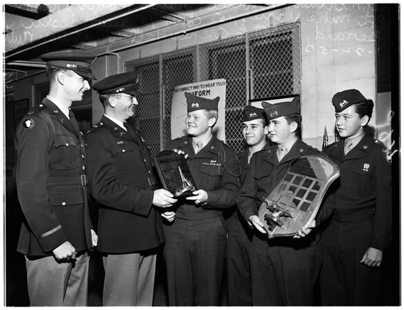 Reserve Officers Training Corps awards at Hollywood High School, 1952
