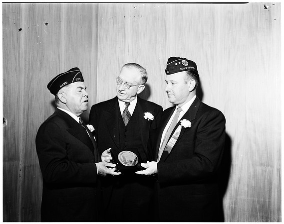 R.O.T.C. Award to outstanding cadet, 1952