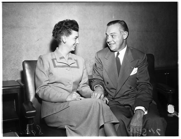 Engaged couple, 1951