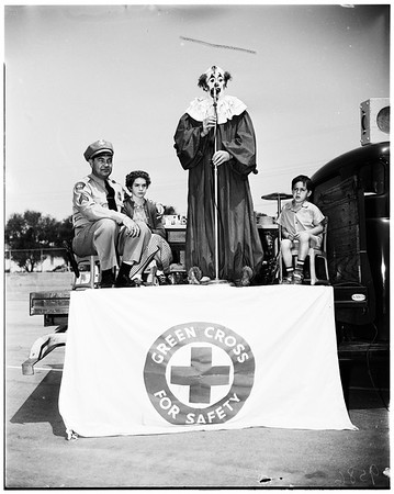Traffic safety party at Wilson Elementary School, San Gabriel, 1952