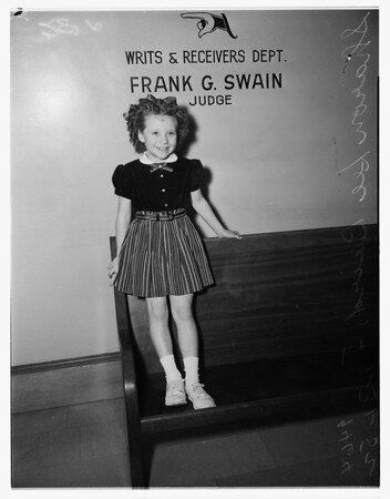 Contract approval ...at Judge Frank Swain's office, 1952