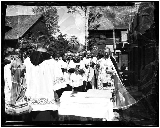 Cornerstone Bishop McIntyre, 1952