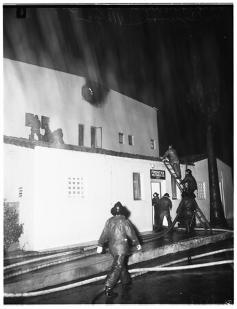 Fire (Frontier Picture Company at 1357 Gordon Street, Hollywood), 1952