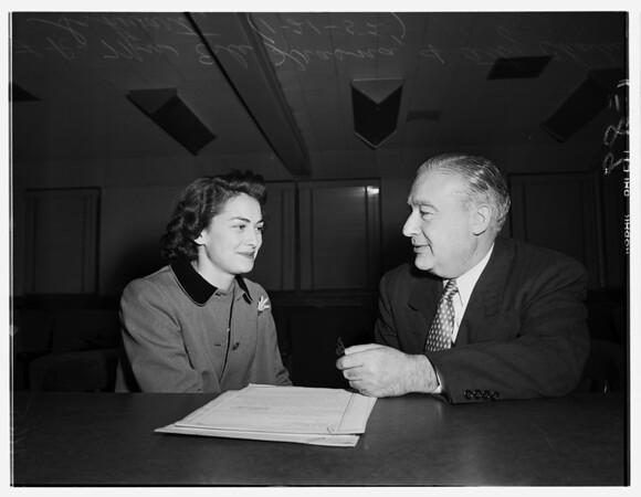 Jolson will, 1952
