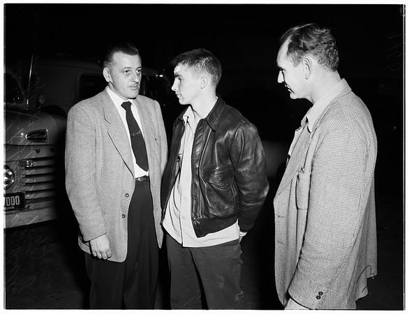 Marine fugitive arrested by police, 1952