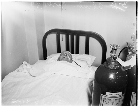 Escaping gas from defective water heater, at rooming house, 440 West 61st Street... one dead, and several overcome, 1952