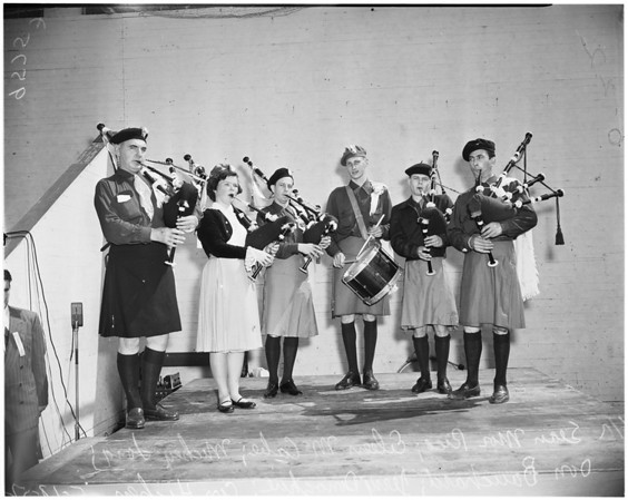 Irish feis contest (Mount Carmel High School), 1952