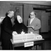 $20,000 donated to Saint Joseph's Hospital by Republic Studios, 1952
