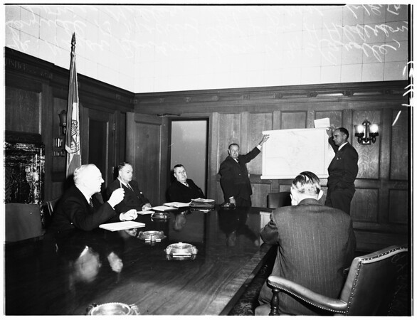 City disaster board, 1952.