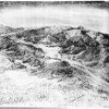 Aerial views of snow on Southern California mountains, 1952