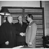 Roy W. Carter sworn in as Marshal of Los Angeles County Municipal Court, 1952