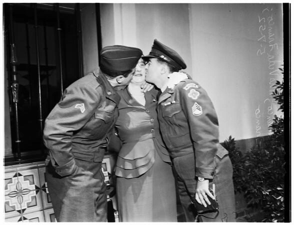 Soldier returns, 1952