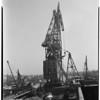 Navy's giant derrick, 1952.