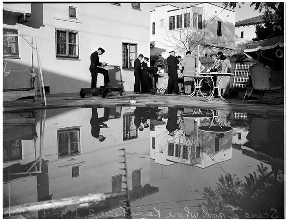 Boy drowning, 1952