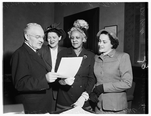 Women's Council for Better Community Relations, 1952