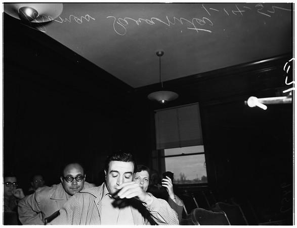 Burning sweater trial, 1952.