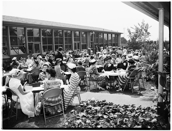 Covina High School senior mother's tea, 1952.