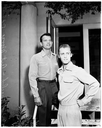 Fall fashion market week for men's wear at Ambassador Hotel, 1952