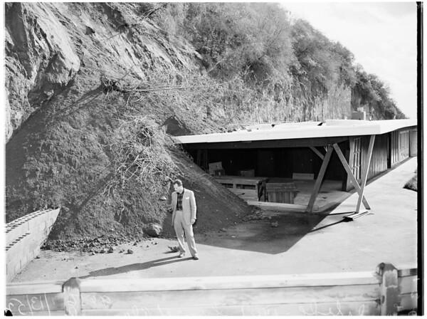 Landslide at 1401 Sunset Plaza Drive, 1952