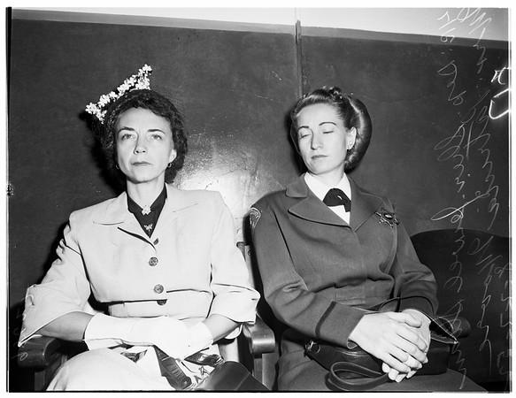 Murder trial sentence, 1952
