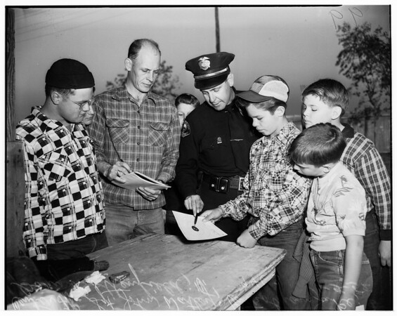 Junior Rifle Club awards...Long Beach ...Police pistol range, 1952